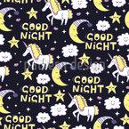 Gute Nacht Einhorn Rapportiertes Design