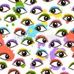 Verrückter Augenaufschlag Nahtloses Vektormuster