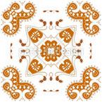 装飾装飾品。 シームレスなベクトルパターン設計