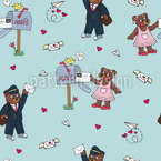 Cute bears in love Seamless Vector Pattern Design