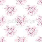 ブーケウィズハート シームレスなベクトルパターン設計