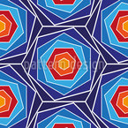 Hexagons side by side Design Pattern