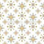 Ethnic Snowflakes Seamless Vector Pattern