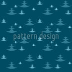 Dynamic Fir Trees Vector Pattern