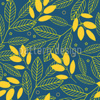 Foliage At Night Pattern Design
