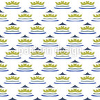 Colored crown Seamless Vector Pattern Design