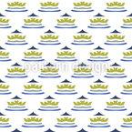 Farbige Krone Muster Design
