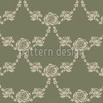 Englische Rosen Grün Vektor Ornament