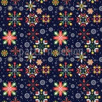 Florale Winter Sterne Nahtloses Vektormuster