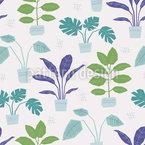 Frische Zimmerpflanzen Muster Design