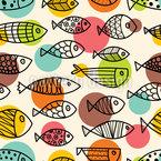 Niedliche Fischwelt Nahtloses Vektormuster