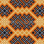 Yin Romeno E Yang Design de padrão vetorial sem costura