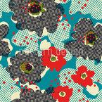 Raster De Flores Design de padrão vetorial sem costura