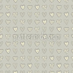 Different shapes of hearts Seamless Vector Pattern