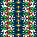 Listras Folclore Romeno Design de padrão vetorial sem costura