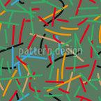 Linhas no Caos Design de padrão vetorial sem costura