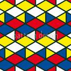 Mondrian Triangle And Rhomb Pattern Design