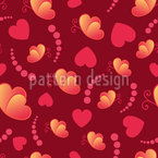 Herzen Und Schmetterlinge Designmuster