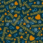 Love Chant Seamless Pattern