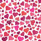 Liebe Ist Ueberall Nahtloses Vektormuster