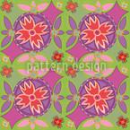Blumenkreise Muster Design