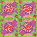 Floral Circles Pattern Design