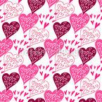 Ausdruck Der Liebe Nahtloses Vektormuster