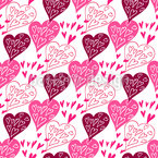 Expression Of Love Seamless Vector Pattern Design