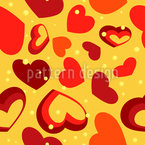 Hot Hearts Pattern Design