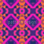 Parede Psicodélica dos anos 70 Design de padrão vetorial sem costura