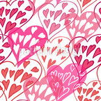 Fogos de artifício do amor Design de padrão vetorial sem costura