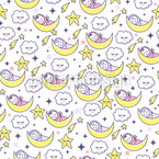 Dreaming Babies Seamless Vector Pattern Design