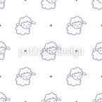 Conde Ovelhas Doces Design de padrão vetorial sem costura
