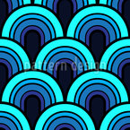 Retro Rising Suns Seamless Vector Pattern Design