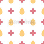 Eggs and flowers Pattern Design
