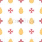 Eier und Blumen Muster Design