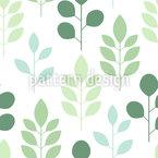 Abstrakte Bäume und Blätter Musterdesign