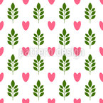 Heart in the wood Seamless Vector Pattern Design