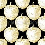 Vintage Apples Repeat Pattern