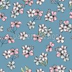 Cherry Bloom Seamless Vector Pattern Design
