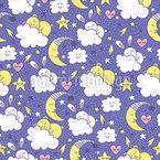 Hase und Mond Designmuster