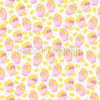 Süße Kuchen Nahtloses Vektormuster