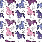 Unicorn Kisses Seamless Pattern