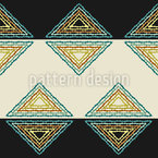 Triangle and Stripes Seamless Pattern