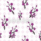 Hanami White Vector Pattern