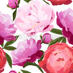 Beautiful Peonies Pattern Design