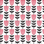 Scandinavian Tulips Seamless Vector Pattern Design