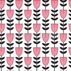 Skandinavische Tulpen Nahtloses Vektormuster