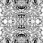 Schwarze Schlingen Muster Design