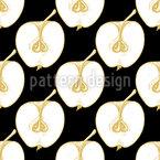 Goldne Äpfel Aufgeschnitten Musterdesign
